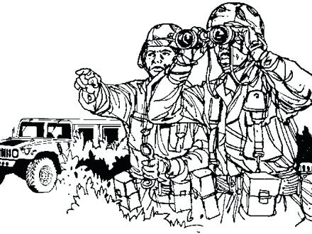 440x330 This Is Army Coloring Pages Pictures Military Hummer Army Car