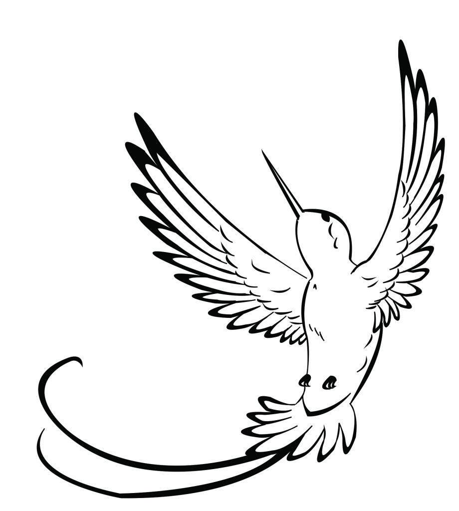 920x1024 Drawing A Hummingbird Hummingbird Drawings Clipart Best