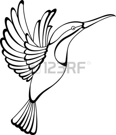385x450 Hummingbird Tattoo Royalty Free Cliparts, Vectors, And Stock