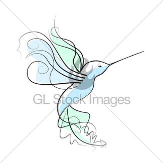 325x325 Colibri Drawing Set Made In Line Art Style Gl Stock Images