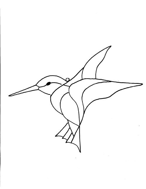 Small Bird Stained Glass Patterns - Glass Designs