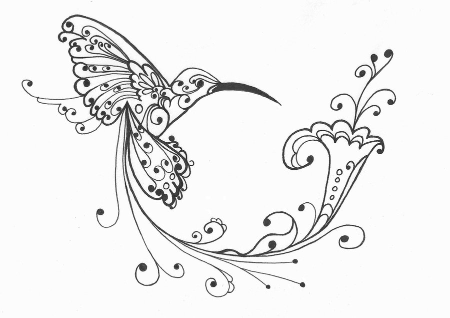 Hummingbird Drawing Tattoo At Getdrawings Com Free For Personal