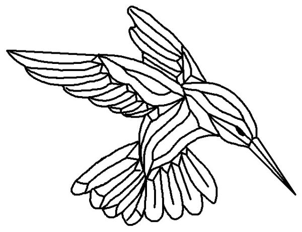 600x461 Hummingbird Coloring Pages Gst 9 Bevel Cluster Hummingbird