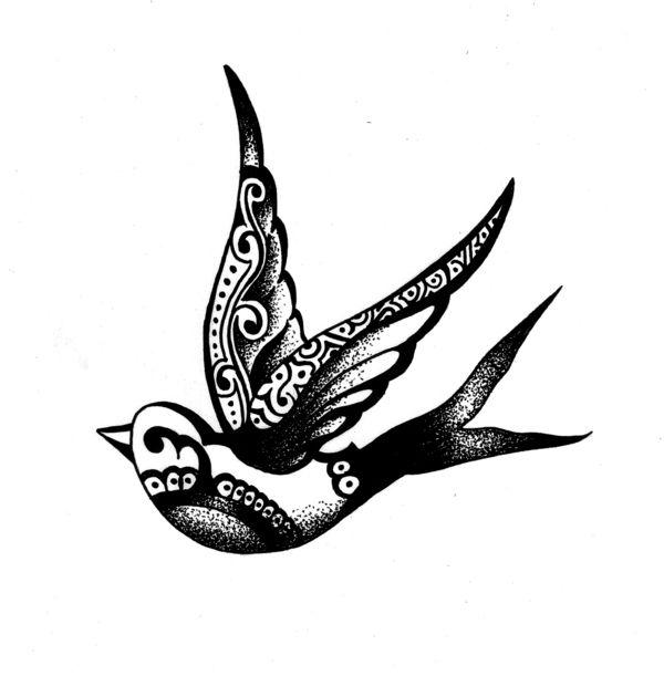 600x611 Drawn Hummingbird Small