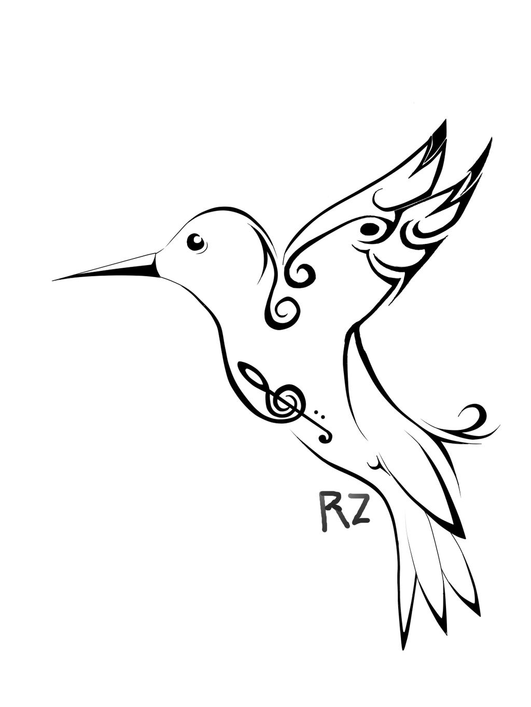 1024x1365 Humming Bird Template Tattoo By Rayzenart