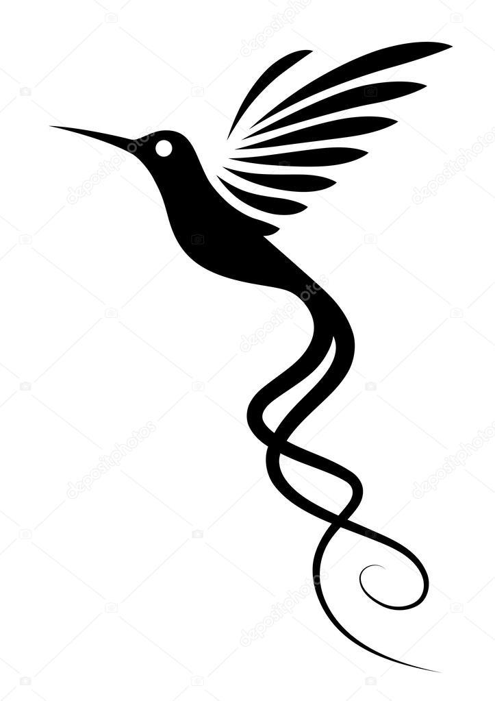 723x1023 Hummingbird Tattoo Stock Vector Iatsun