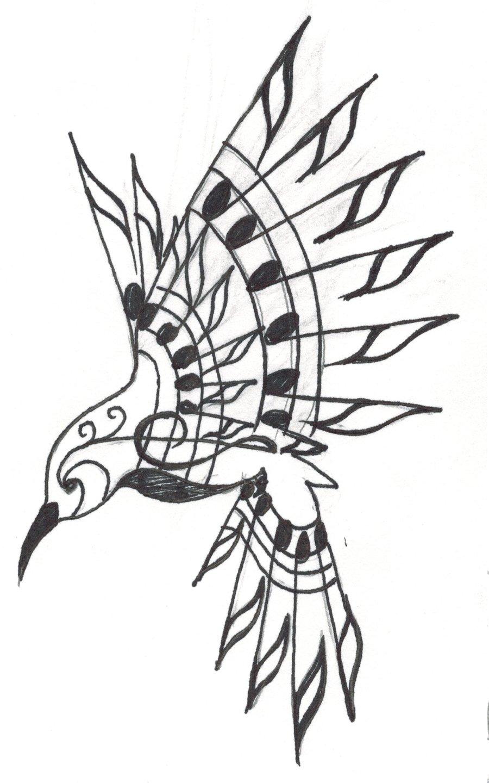 900x1440 Music Notes N Hummingbird Tattoo Design In 2017 Real Photo