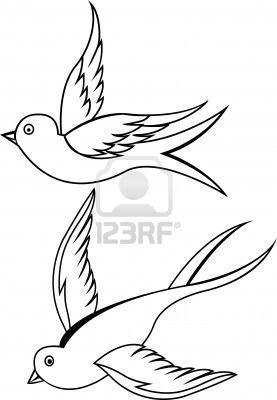 277x400 Only Swallow Tattoo Swallow Bird Tattoo Designs For Women