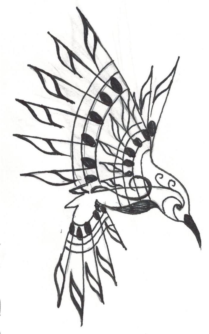 707x1131 Tribal Hummingbird Tattoo Designs