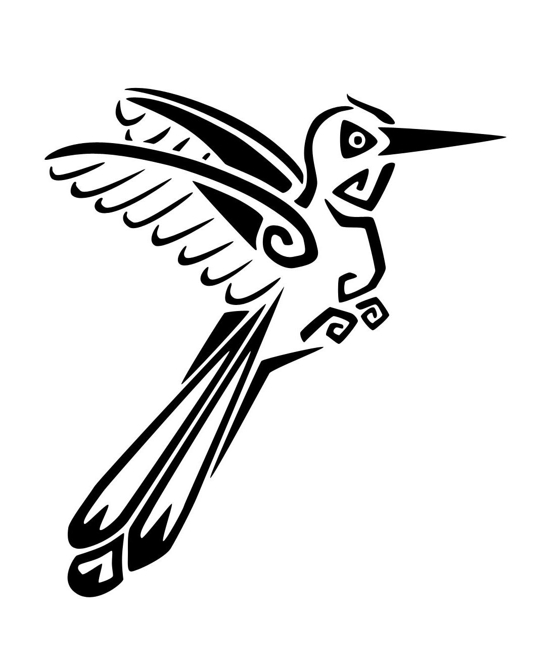1092x1303 Tribal Hummingbird Tattoo Designs Hummingbird Tattoos Designs
