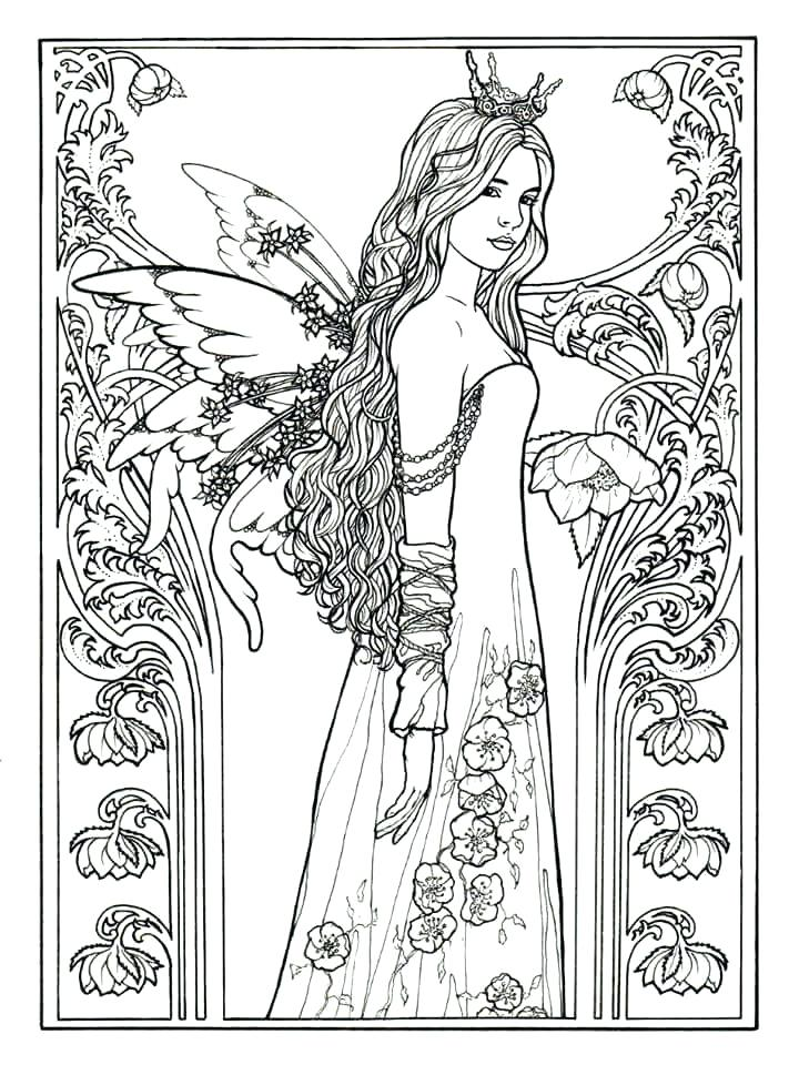 720x960 Coloring Pages Fairy Fairy Coloring Pages For Adults Preschool