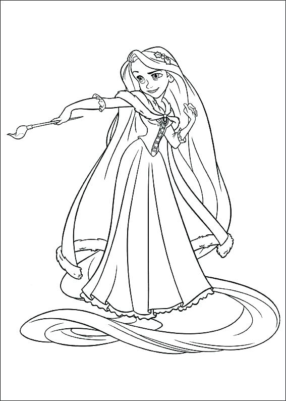 567x794 Entertaining Tangled Coloring Pages Free Download Printable