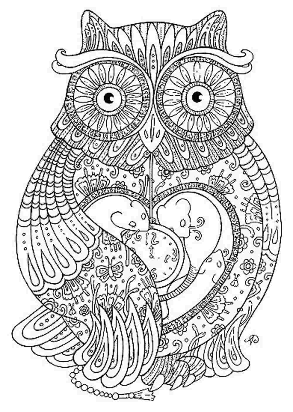 1000x1403 Outstanding Printable Hard Owl Coloring Pages Adult With Free