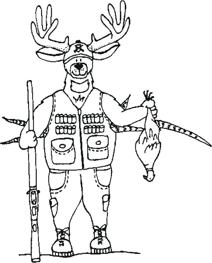 725x900 Hunting Coloring Book Also Hunting Fishing And Wildlife Coloring