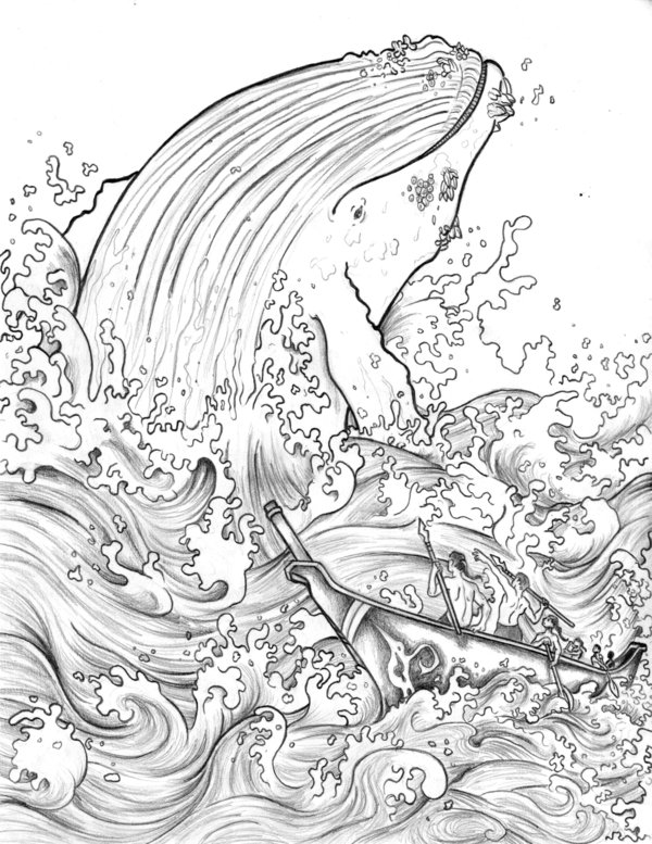 600x777 Makah Whale Hunt Pencils By Mgrigsbyart