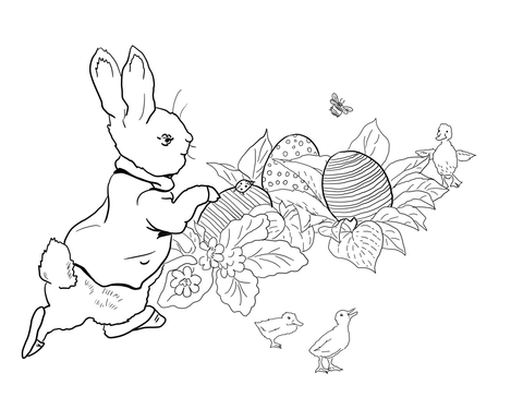 480x364 Peter Rabbit Easter Egg Hunt Coloring Page Free Printable