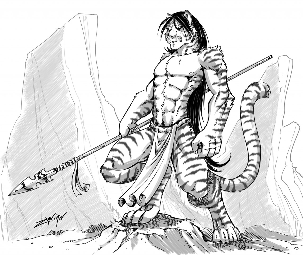 1280x1078 Tiger On The Hunt By Zavian