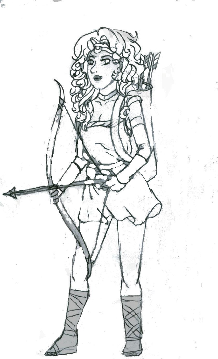 903x1486 Artemis Goddess Of The Hunt Sketch By Fullmetalshaman34