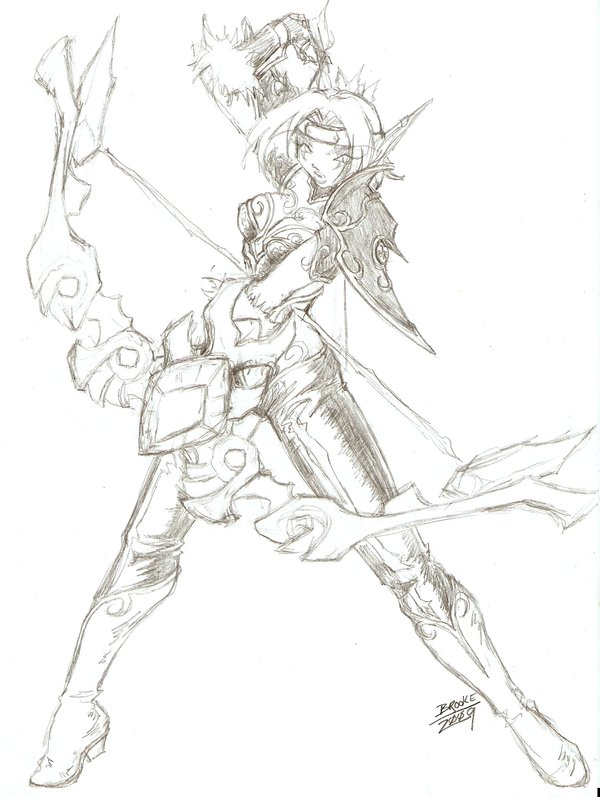 600x797 Aspect Of The Hunter Sketch By Tsuzukikun