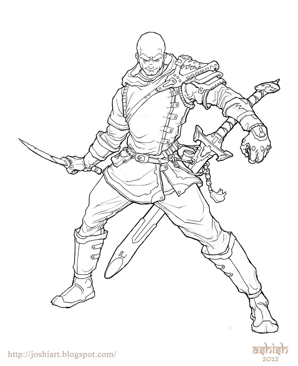 1024x1257 Magnus The Unicorn Hunter Lineart By Atomic Hermit