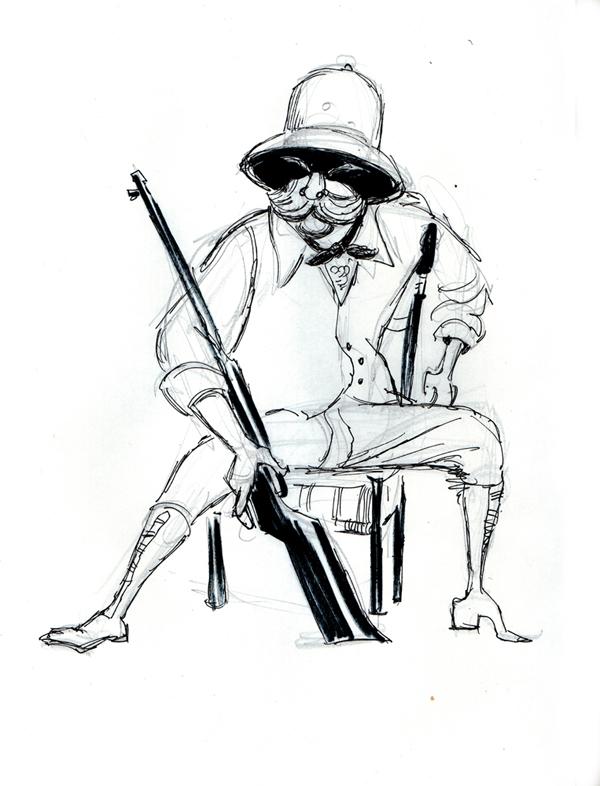 600x786 Michael Swofford Safari Hunter 009 The Drawing Club