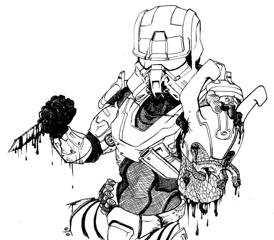 956x836 Halo Head Hunter By Mich2mars Halo Head Hunter