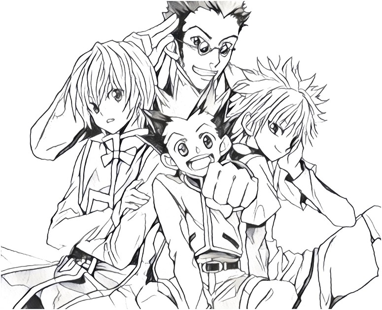 775x629 Coloring Pages Hunter X Hunter Drawing