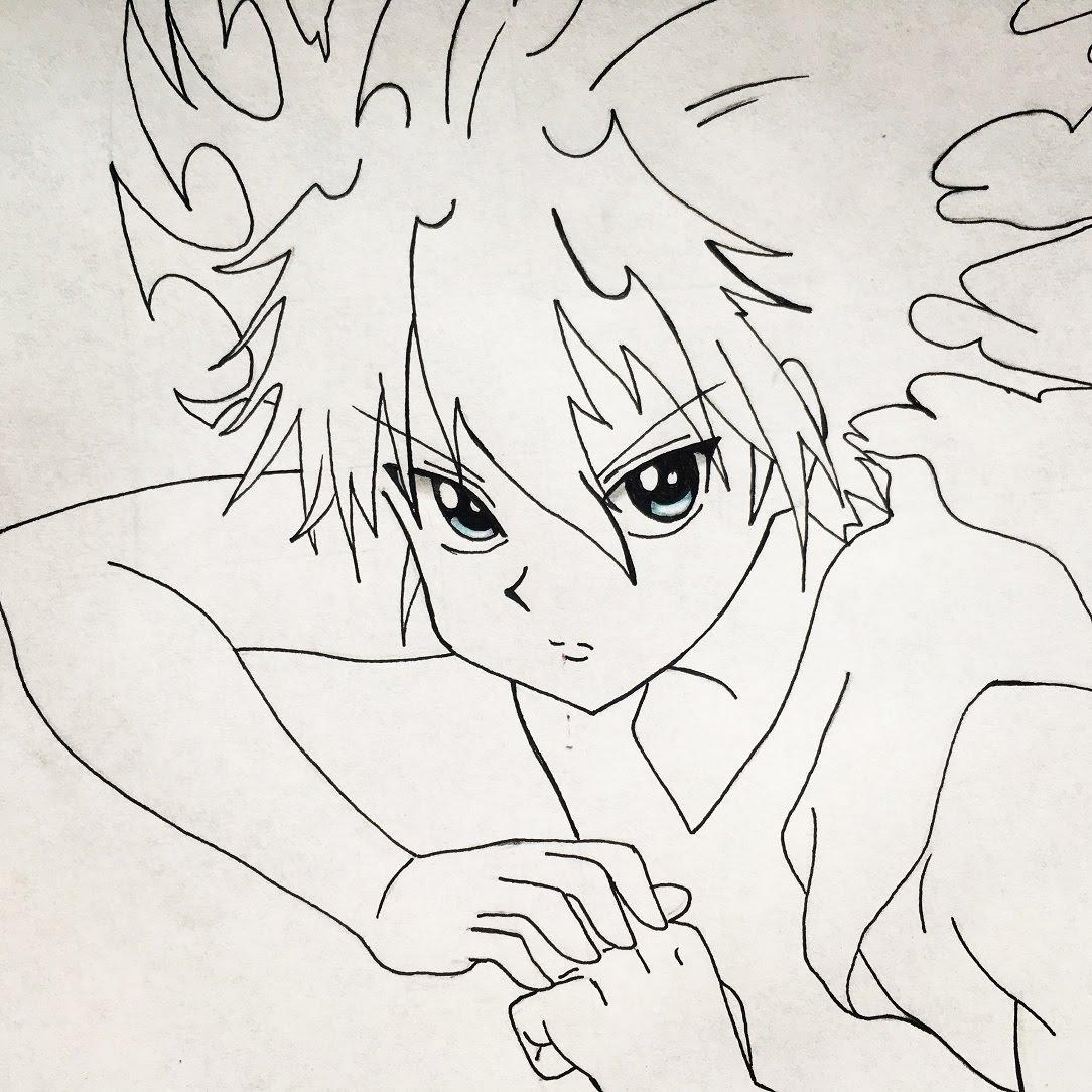 1084x1084 How To Draw Killua (Hunterxhunter)