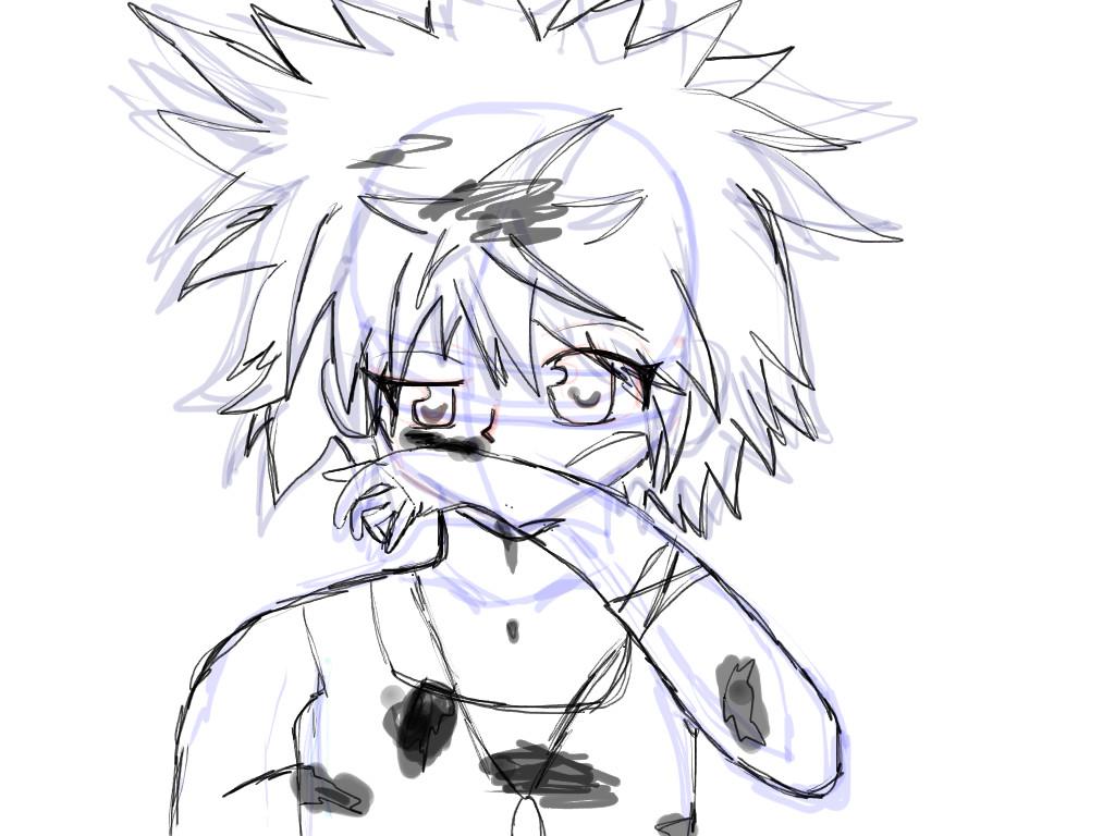1024x768 Hunter X Hunter Recked Up Killua Sketch By Ayameflarsen21