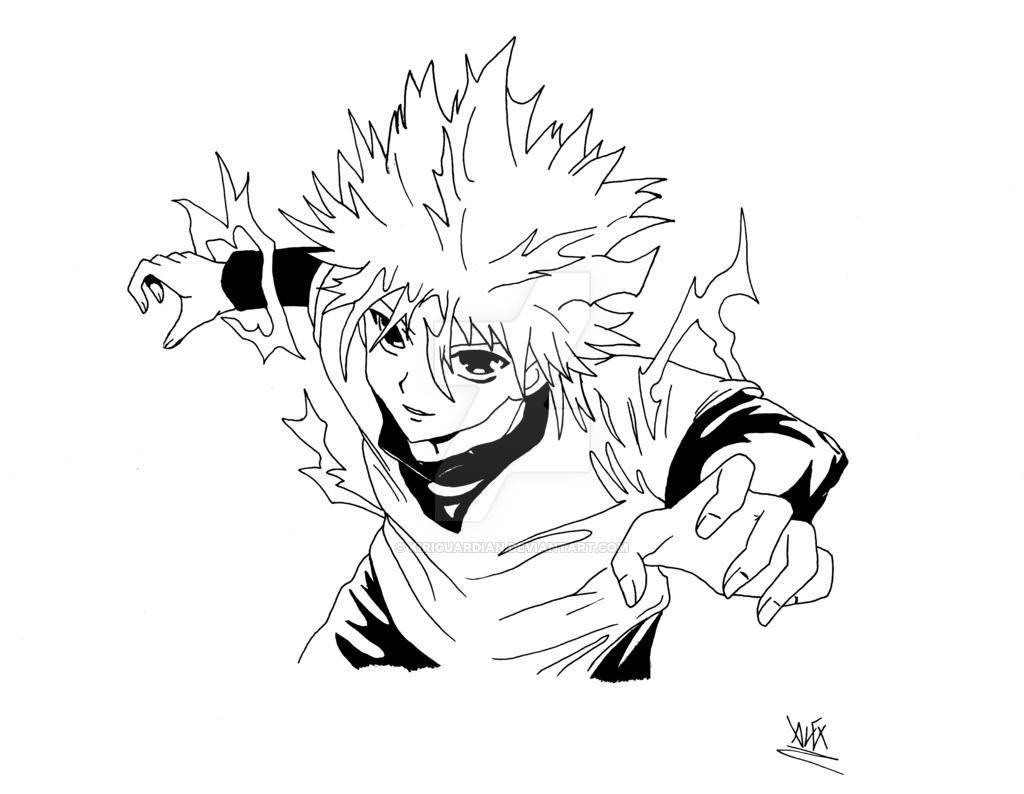 1024x794 Killua [Bw Drawing]