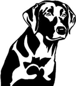 250x283 Hunting Dog Decal