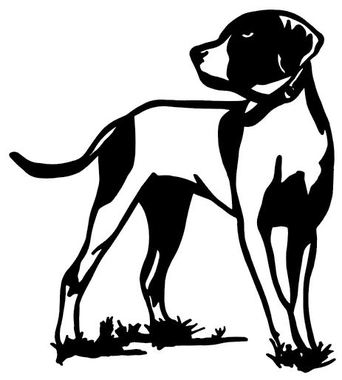 342x380 Pheasant Bird Dog Decal Wd 065 Bird Hunting Window Sticker