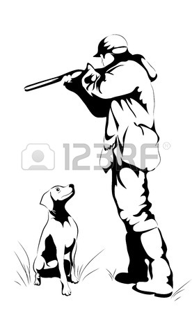 276x450 Duck Hunter With Retrieving Dog Cartoon Set Royalty Free Cliparts