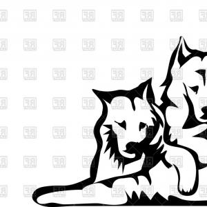 300x300 Hunting Dog Silhouette Vector Clipart Free