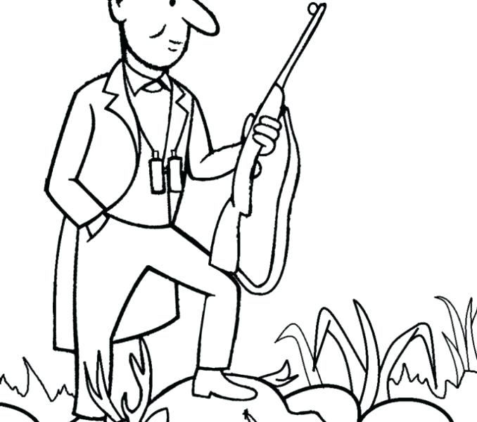678x600 Hunting Coloring Pages Drawing And Colouring Pig Hunting Coloring
