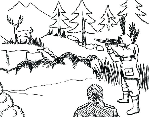 600x473 Coloring Pages Deer Synthesis.site
