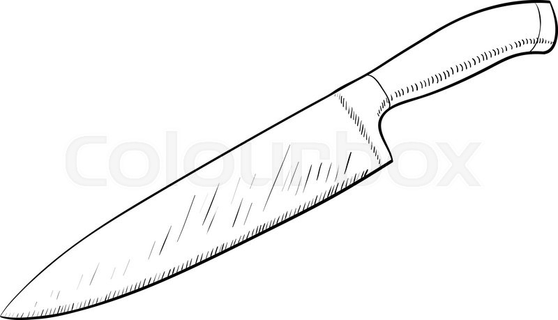 800x459 Knife Sketch Icon In Cartoon Doodle Style Stock Vector Colourbox
