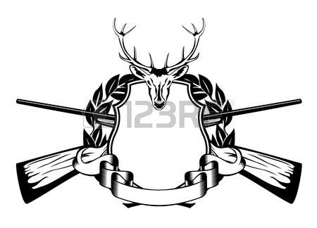 450x324 Deer Skull With Rifle Royalty Free Cliparts, Vectors, And Stock