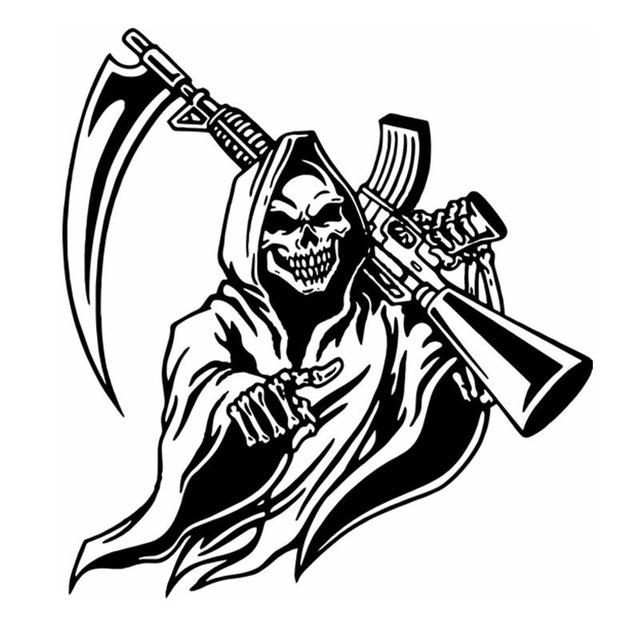 640x640 Hunt Sticker Name Hunting Shoot Skull Rifle Hunter Shop Posters