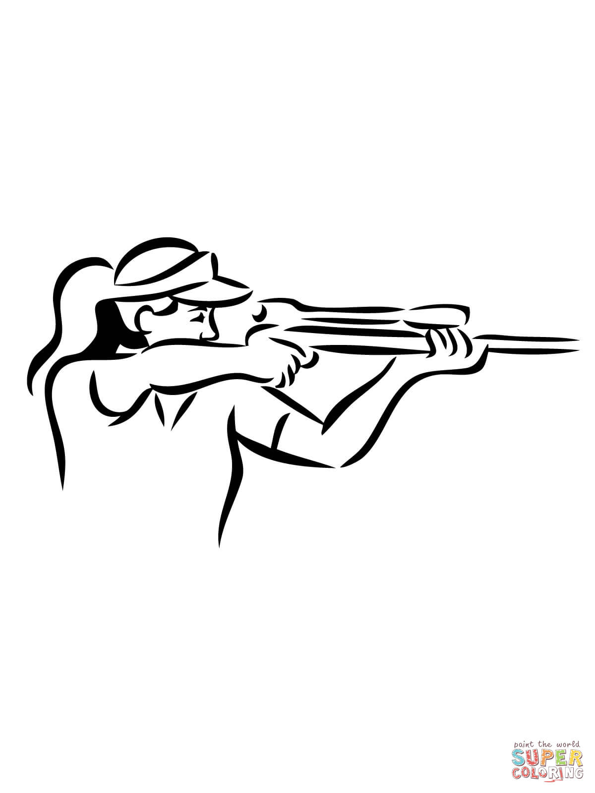 1200x1600 Shooting Sniper Rifle Coloring Page Free Printable Coloring Pages