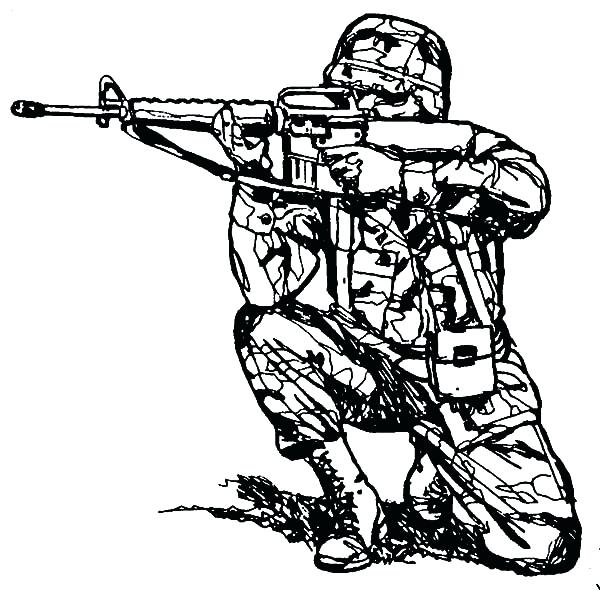 600x590 Rifle Coloring Pages Healtylife.club