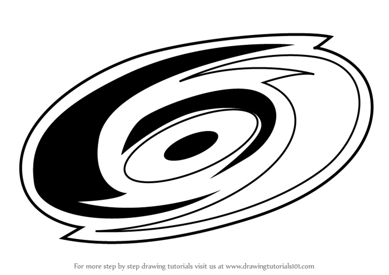 800x566 Learn How To Draw Carolina Hurricanes Logo (Nhl) Step By Step