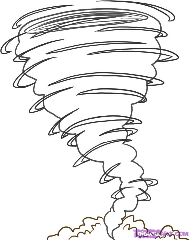 663x840 Tornado coloring pages How To Draw A Tornado Step 4 Readers