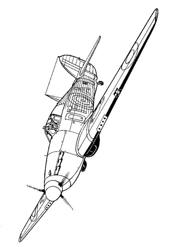 567x822 Coloring Page Wwii Aircrafts