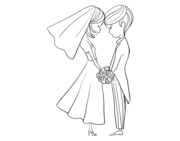 600x470 The Husband And The Wife Coloring Page