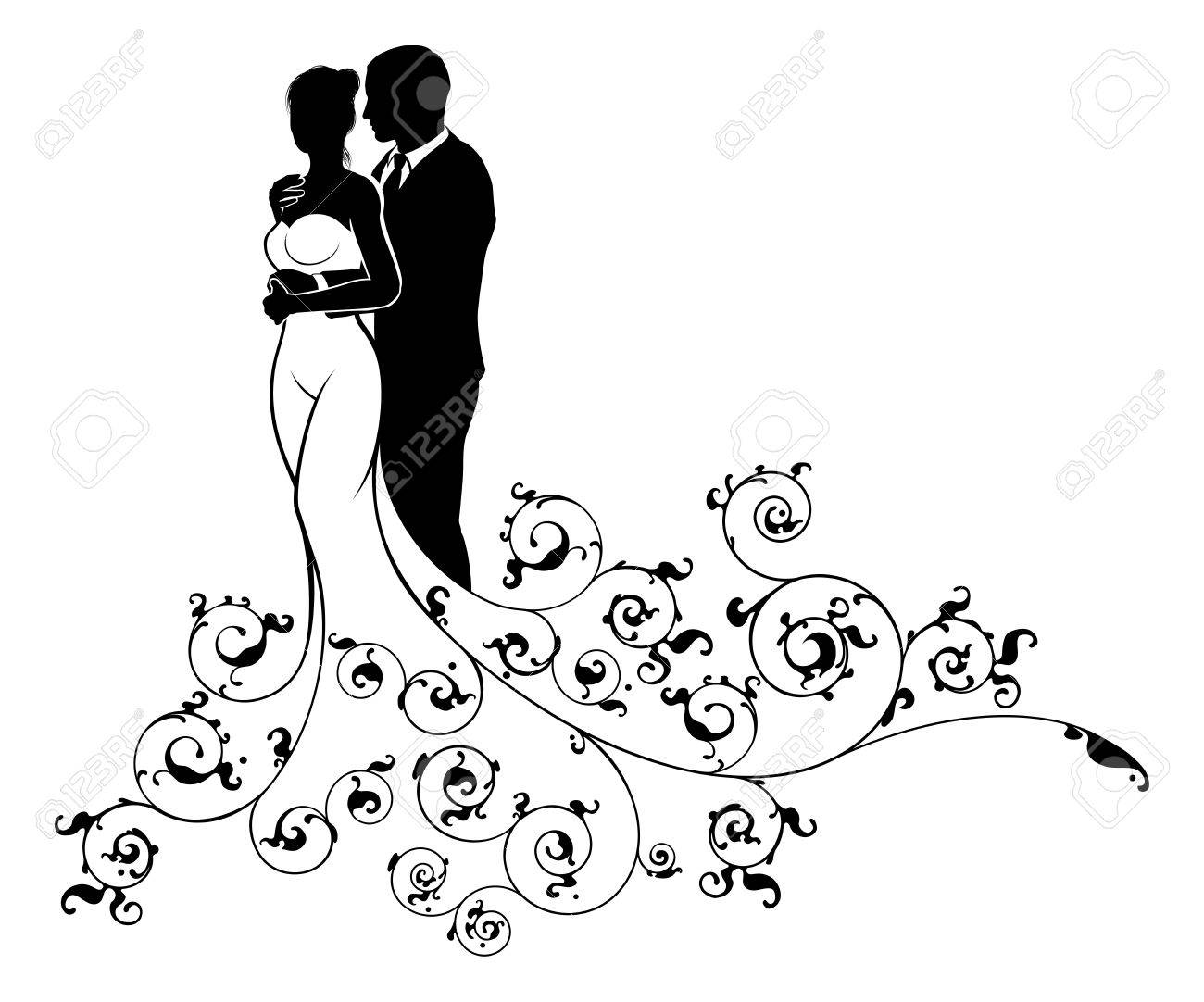 1300x1082 Wedding Couple Bride And Groom Husband And Wife In Silhouette