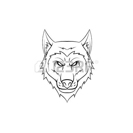 450x450 468 Wolf Face Tribal Cliparts, Stock Vector And Royalty Free Wolf