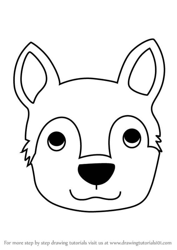 567x800 Learn How To Draw A Husky Dog Face For Kids (Animal Faces For Kids