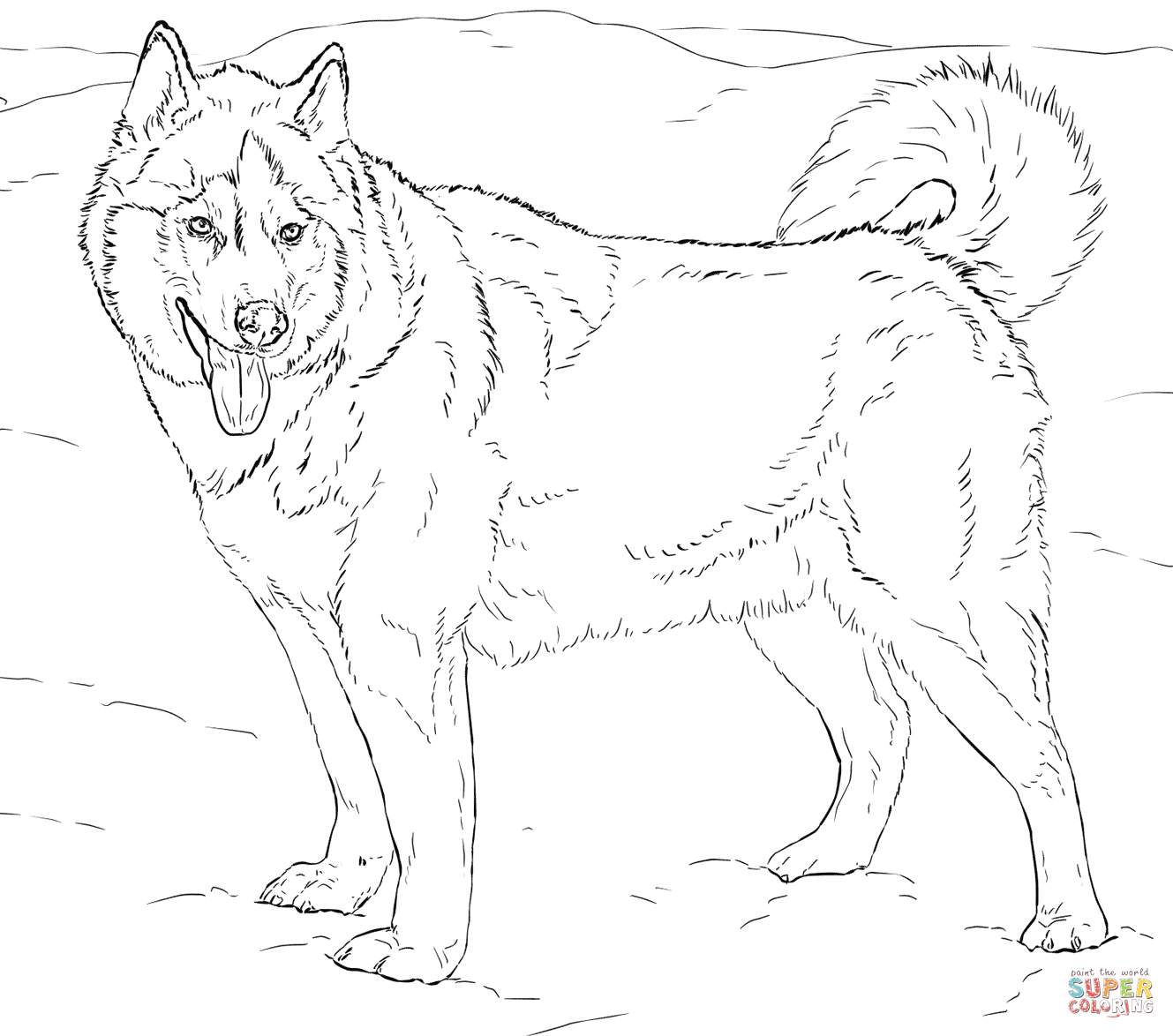 Husky Puppies Drawing at GetDrawings.com   Free for personal use ...