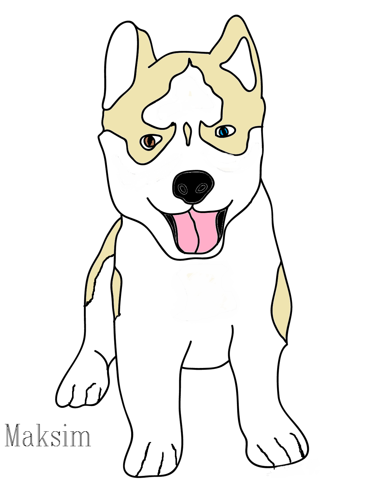 Husky Puppy Drawing at GetDrawings.com | Free for personal use Husky ...